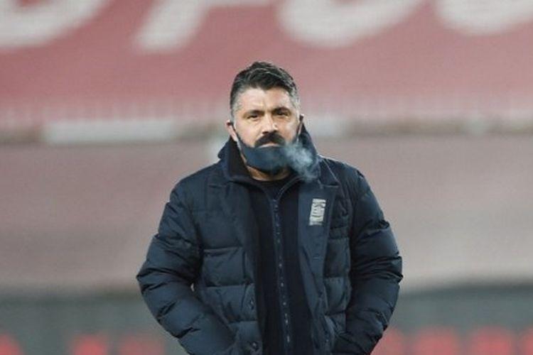 Pelatih Napoli, Gennaro Gattuso, harus menerima kenyataan bahwa timnya kalah 1-3 dari Atalanta dalam semifinal leg kedua Piala Italia atau Coppa Italia, Kamis (11/2/2021) di Stadion Atleti Azzuri d'Italia.
