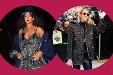 Rihanna dan Celine Dion Berbusana Sambil Pakai 2 Tas, Bakal Jadi Tren?