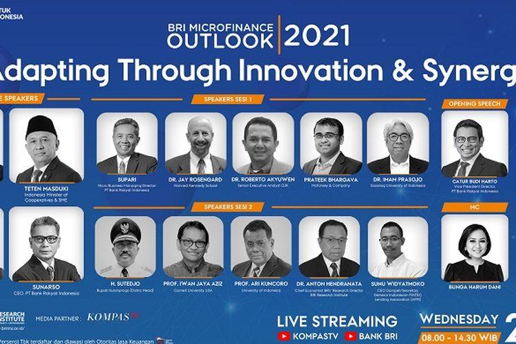 Pengisi acara di BRI Microfinance Outlook 2021: Adapting Through Innovation & Synergy