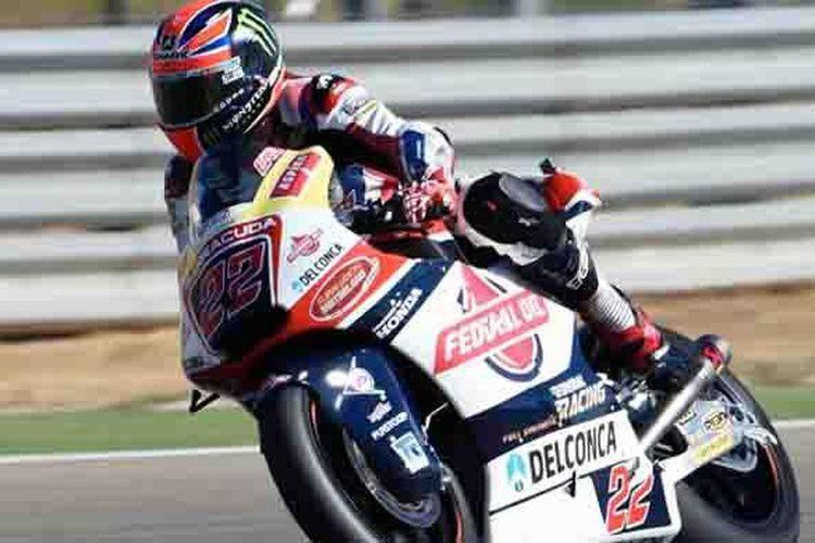 Sam Lowes, pebalap Honda Gresini Federal Oil, memenangi Moto2 GP Aragon, di Spanyol, Minggu (25/9/2016).