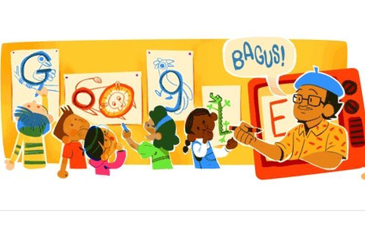 Tino Sidin, tokoh menggambar asal Indonesia yang jadi Google Doodle hari ini