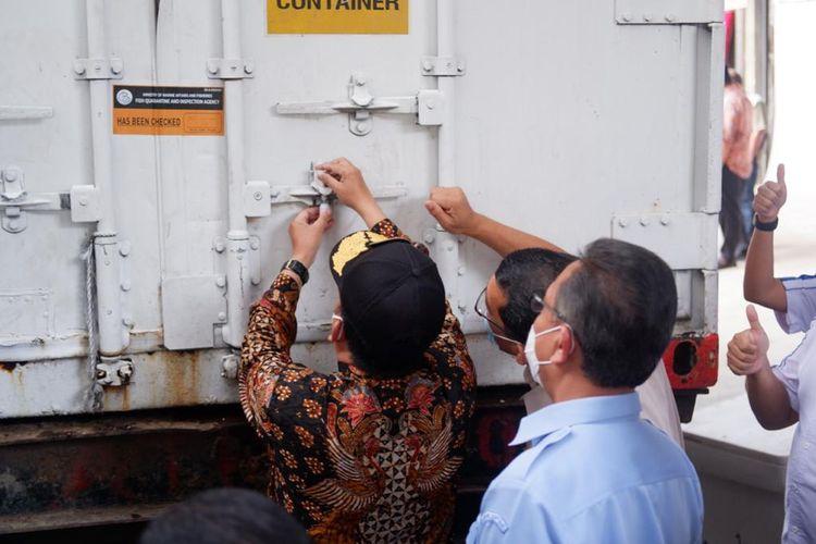 Pelepasan ekspor 11.000 kilogram ikan beku dari Kepulauan Riau ke Singapura