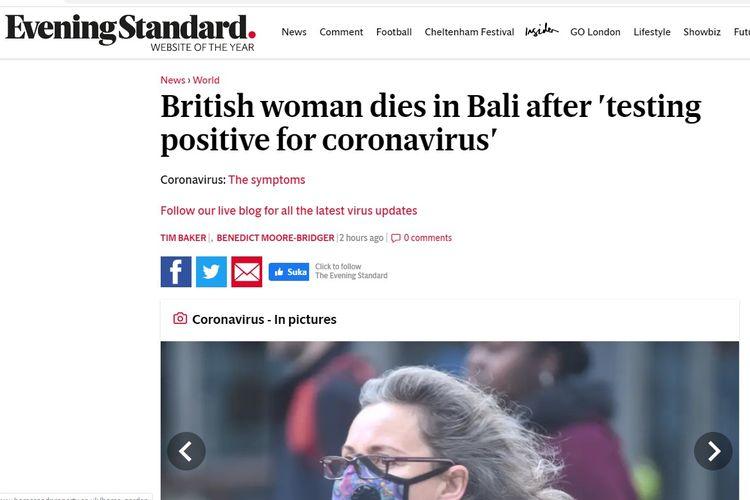 Media asing melaporkan kasus meninggalnya pasien virus corona pertama di Indonesia
