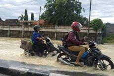 Jalur Pantura Tegal-Pemalang Tergenang Luapan Sungai Rambut, Arus Lalin Tersendat