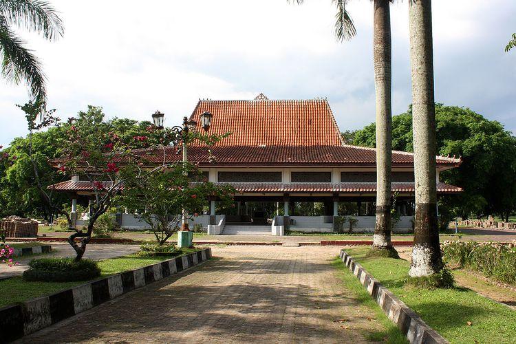 Pendopo utama Taman Purbakala Kerajaan Sriwijaya, Palembang, Sumatera Selatan DOK. Dinas Komunikasi dan Informatika Kota Palembang