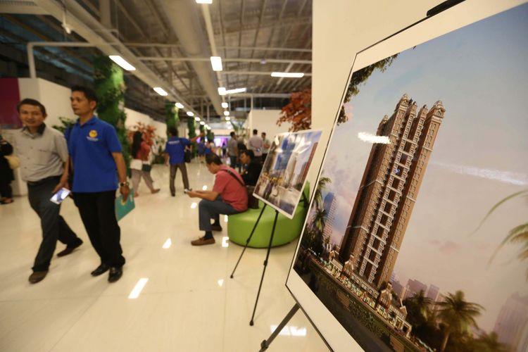 Suasana di Kantor Marketing Kota Baru Meikarta, Kabupaten Bekasi, Jawa Barat, Senin (4/09/2017). Pada tahap pertama, akan dibangun 200.000 unit apartemen yang siap huni pada akhir tahun 2018.