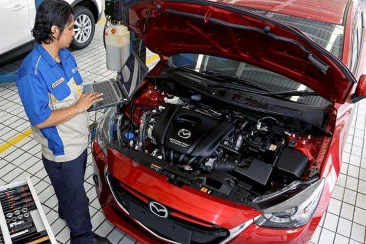 Ilustrasi servis di Diler Mazda