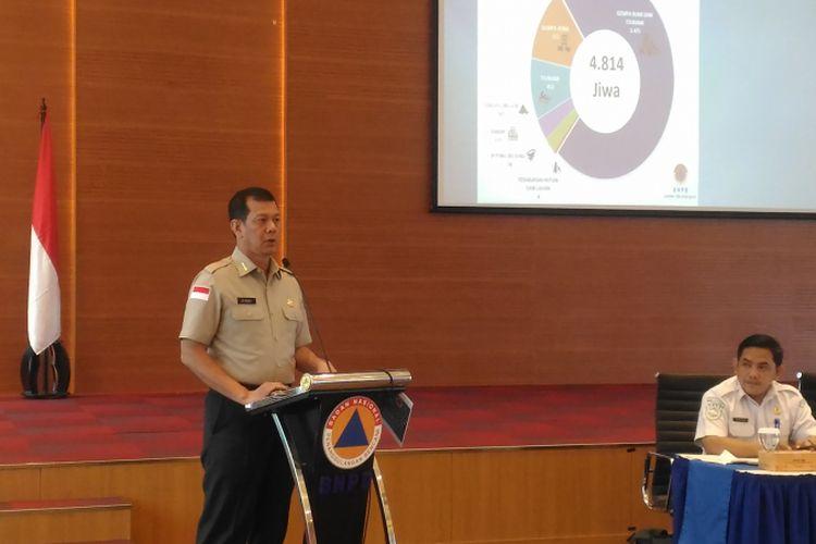 Kepala Badan Nasional Penanggulangan Bencana (BNPB) Doni Monardo di kantor BNPB, Jakarta Timur, Kamis (21/2/2019).