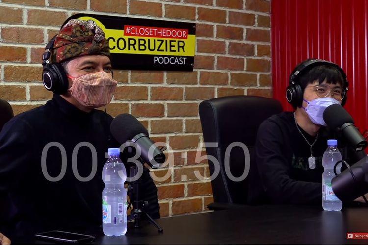 Ketua KPI Agung Suprio dan dr Tirta menjadi bintang tamu di podcast Deddy Corbuzier.