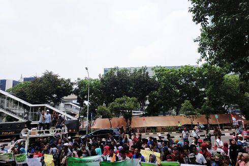 Karyawan PT Palma Satu Kembali Demo di Depan KPK