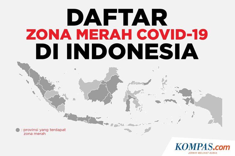 Daftar Zona Merah Covid-19 di Indonesia