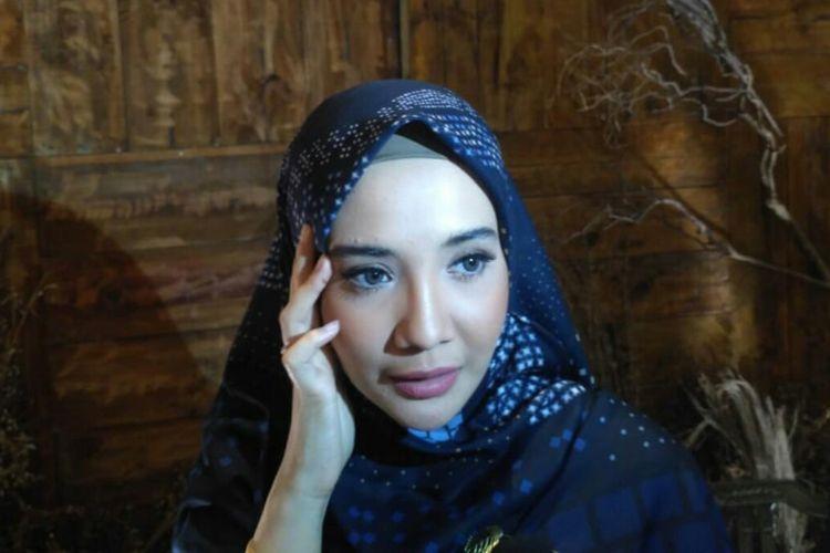 Zaskia Sungkar saat ditemui dalam sebuah acara di kawasan Petogogan, Kebayoran Baru, Jakarta Selatan, Senin (29/4/2019).