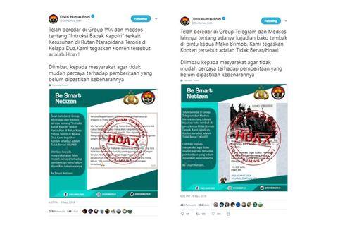 [HOAKS] Instruksi Kapolri terkait Kerusuhan di Rutan Mako Brimob Kelapa Dua