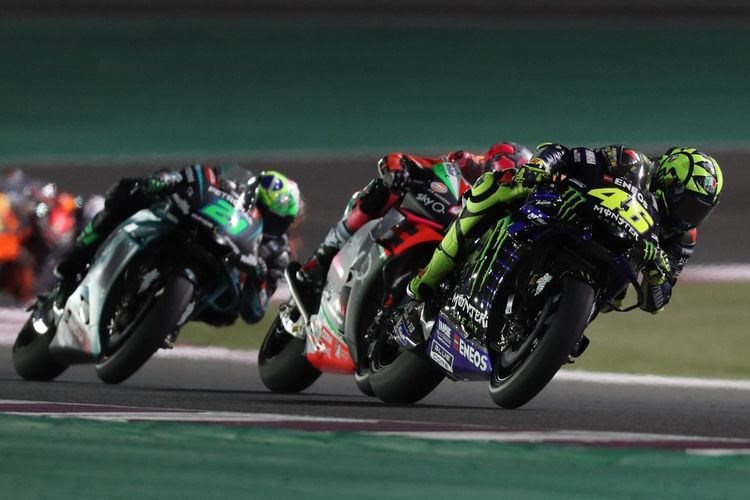 MotoGP Qatar 2019. (Photo by KARIM JAAFAR / AFP)