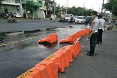 Penyekatan Jalan di Semarang Mulai Dibuka