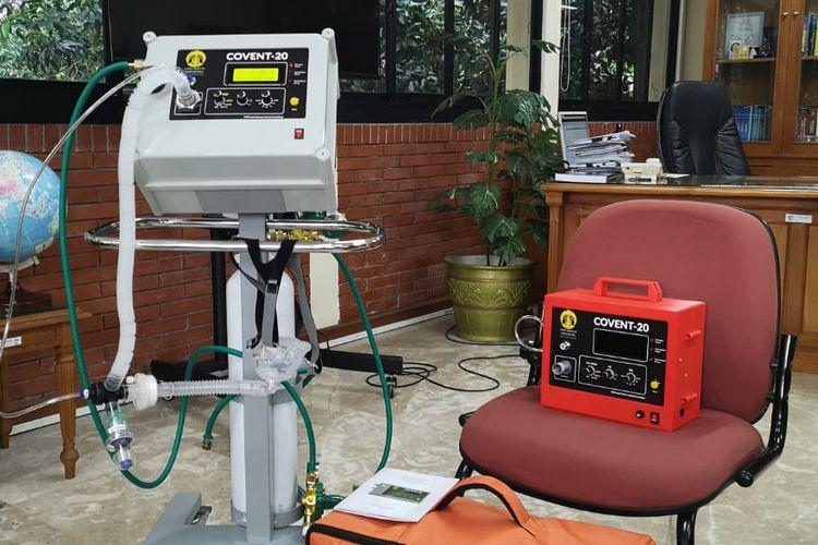 Ventilator Covent-20 berhasil melalui uji klinis manusia dan siap didistribusikan untuk membantu penanganan Covid-19 di seluruh rumah sakit rujukan.