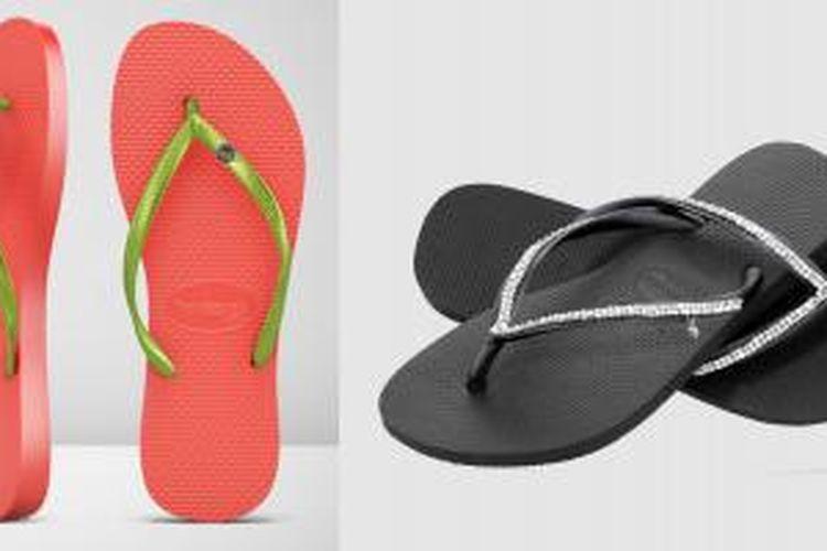 koleksi sandal jepit bertabur berlian dari Havaianas