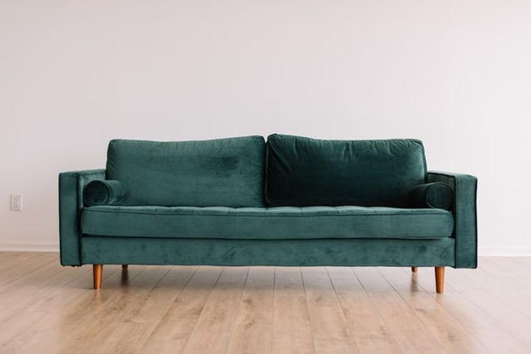 Ilustrasi sofa beludru