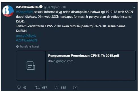 Pakai Sistem Online, Penerimaan CPNS 2018 Tak Bisa Ditipu Calo
