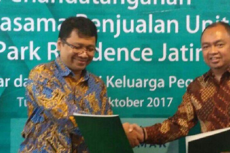 PT Kalmar Jaya, pengembang Easton Park Residence, Jatinangor, Sumedang, menggandeng Koperasi Keluarga Pegawai (KKP) ITB untuk merangkul segmen mahasiswa di kawasan tersebut.
