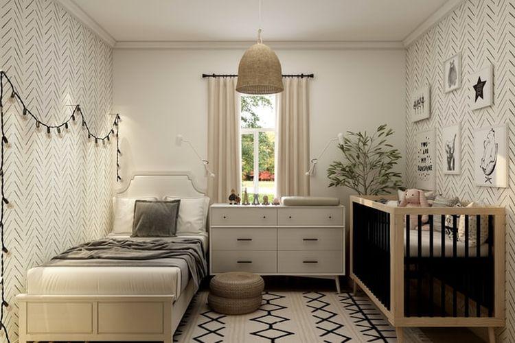 Ilustrasi kamar tidur anak perempuan