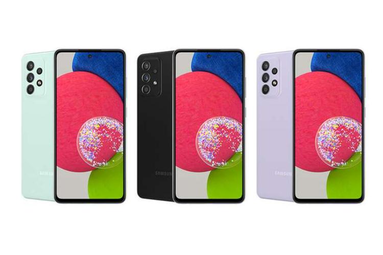 Samsung Galaxy A52s hadir dalam tiga varian warna, yaitu hitam, violet, dan mint.