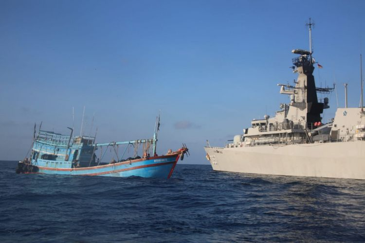 Koarmada I kembali berhasil menangkap Kapal Ikan Asing (KIA) asal Vietnam yang masih melakukan pencurian ikan (Ilegal Fishing) di Laut bagian utara Natuna, Minggu (17/2/2019).