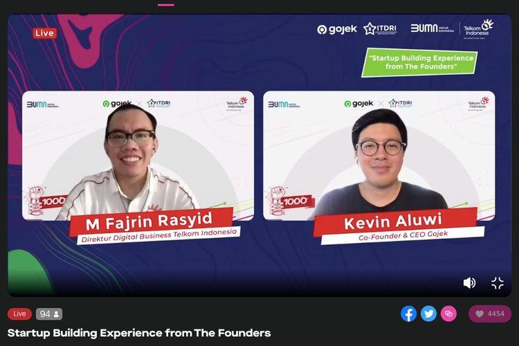 Talkshow Inspiratif: Startup Building Experience From The Founder yang disiarkan secara virtual, Jumat (16/7/2021). (Tangkapan Layar)
