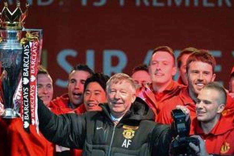 Manajer Manchester United,Alex Ferguson.