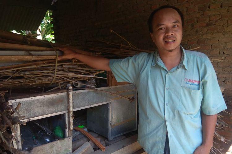 Sujono, pria yang menjual blender sambil menangis di pinggir jalan, saat ditemui di kediamannya di Desa Pojok Sari, Magetan, Rabu (20/5/2020).