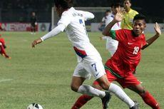 Laga Terhenti di Menit ke-42, Indonesia dan Korea Berbagi Skor 1-1