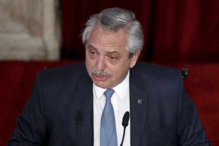 Presiden Argentina Alberto Fernandez.