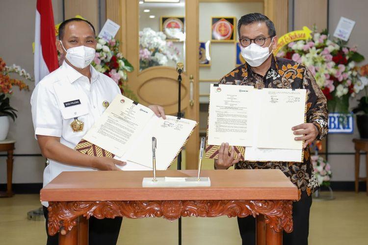 Penandatanganan kerja sama antara BRI dan kementerian Pertahanan untuk pembiayaan vendor, Rabu (23/9/2020)