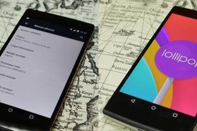 Bocoran foto menampakkan Oppo Find 7 menjalankan sistem operasi Android 5.0.2