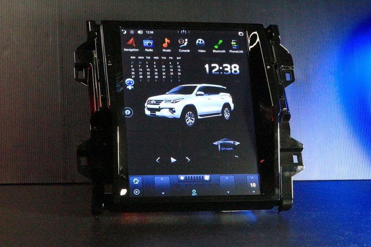 Head Unit Fortuner ala Tesla keluaran Asuka Car TV