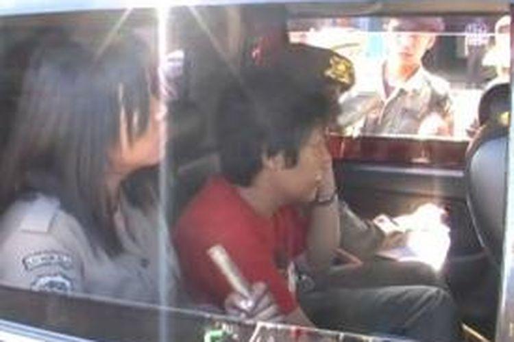 Seorang pedagang diamankan petugas karena dianggap provokator, di Kota Bengkulu