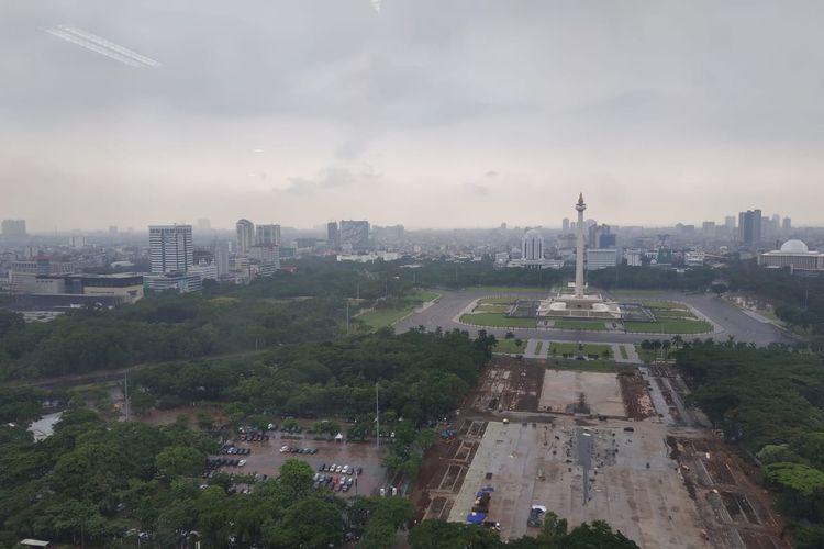 Revitalisasi Monas, Jakarta Pusat, Senin (20/1/2020).