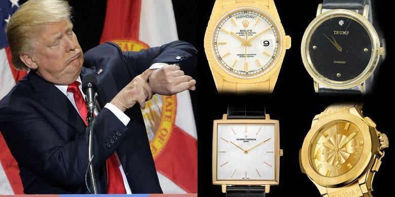 Donald Trump dengan jam tangannya