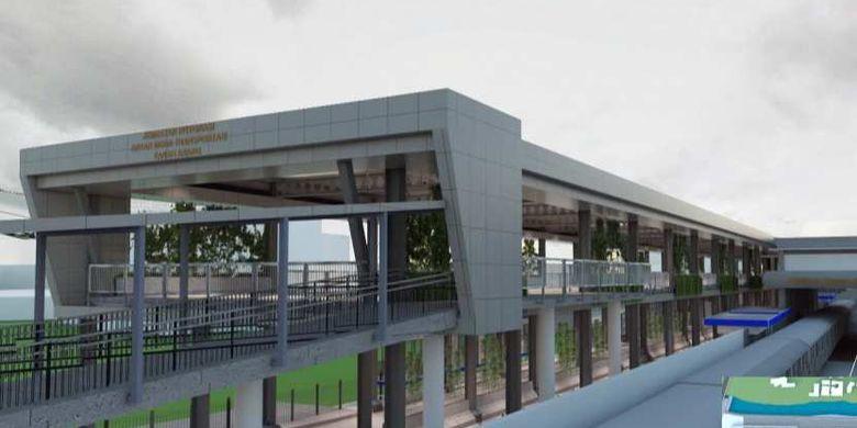 Desain skybridge Tanah Abang, Jakarta Barat