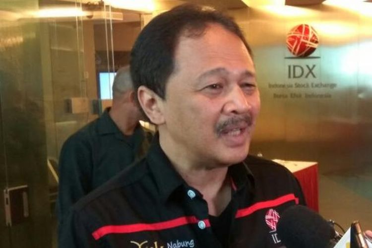 Direktur Utama PT Bursa Efek Indonesia (BEI) Tito Sulistio di Jakarta, Rabu (22/2/2017).
