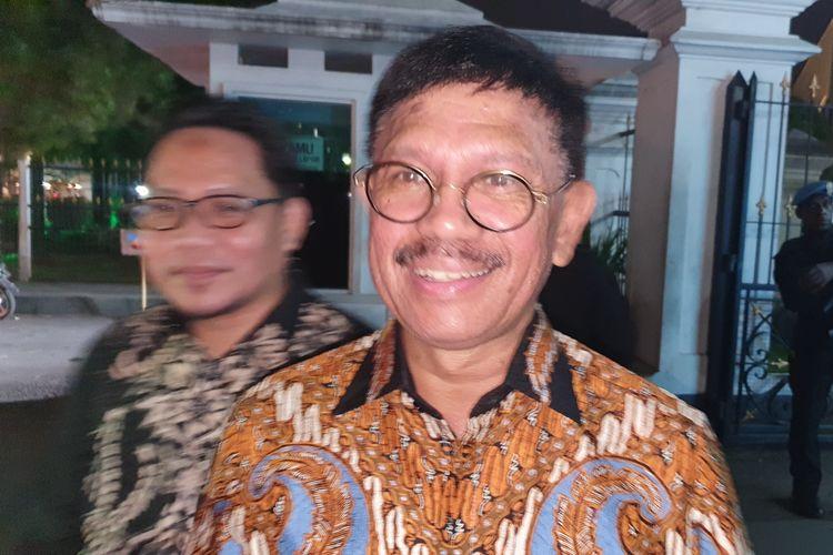 Wakil Ketua TKN Johnny G Plate setelah bertemu Presiden Jokowi di Istana Bogor, Selasa (2/7/2019).