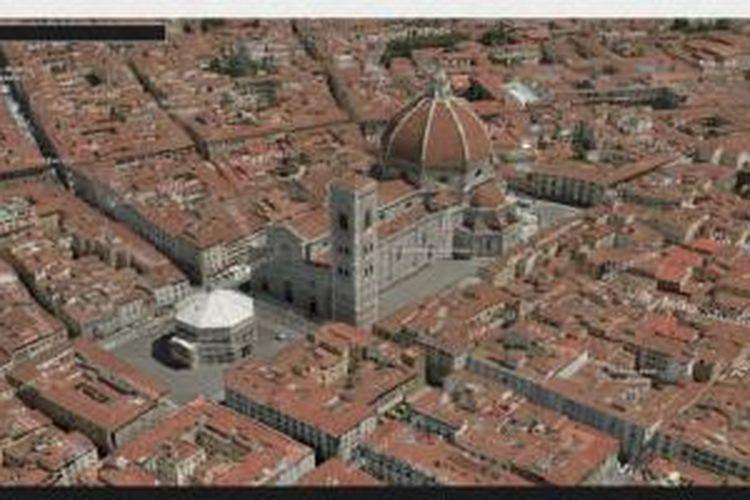 Tampilan 3D pada Windows 10 Maps