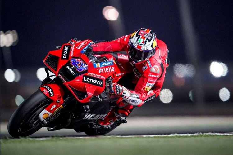 Rider tim pabrikan Ducati, Jack Miller, tampil gemilang di sesi tes pramusim MotoGP di Sirkuit Losail, Qatar, jelang Kejuaraan Dunia MotoGP 2021.