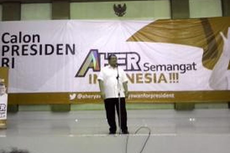 Ahmad Heryawan Deklarasi Capres di Bekasi, Jawa Barat, Jumat (14/3/2014).