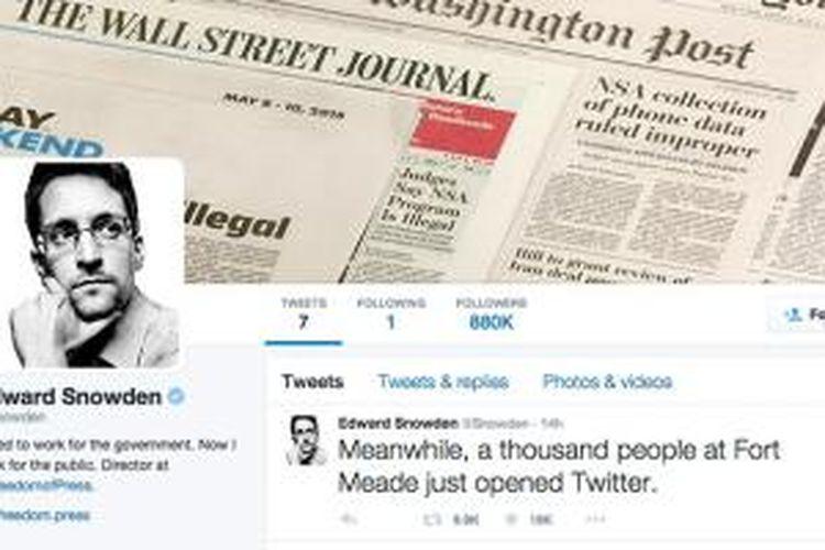 Akun Twitter Edward Snowden
