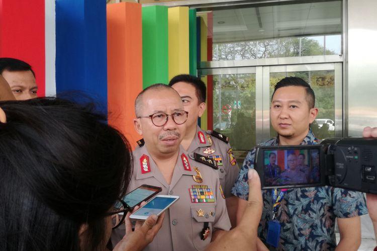 Kepala Divisi Humas Polri Irjen Pol Setyo Wasisto di JCC, Jakarta, Rabu (1/8/2018)