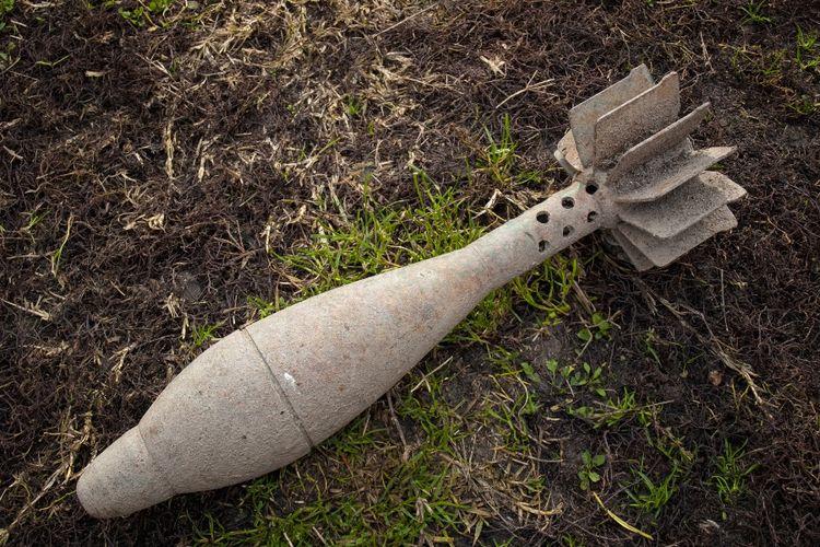 Ilustrasi peluru mortir.