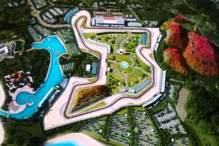 Sirkuit Mandalika untuk MotoGP Mandalika 2021.
