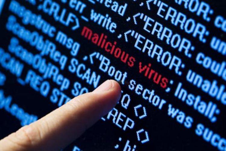 Ilustrasi virus komputer