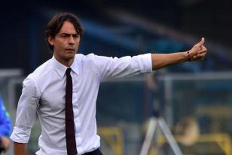 Pelatih AC Milan, Filippo Inzaghi.